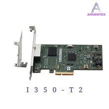 ARUENTEX  I350-T2 PCI-E 4X Server Dual RJ45 Port Gigabit Ethernet LAN Intel i350AM2 1G Network Card alibaba express