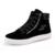 Hombres Zapatos Casual Otoño Invierno de Alta Con cordones Cremallera Sólido Estilo Flock Moda Tendencia Juvenil Hombre Botas Zapato 2016 nueva Llegada
