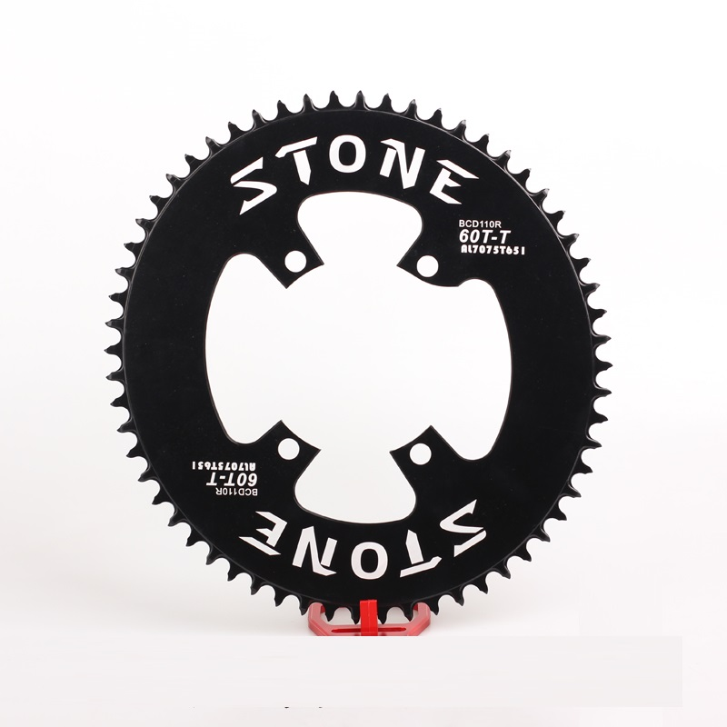 bicycle <font><b>Oval</b></font> <font><b>Chainring</b></font> <font><b>110</b></font> <font><b>BCD</b></font> Narrow wide for Shim ano UT R8000 R9100 Crank 1x System 4 bolts image