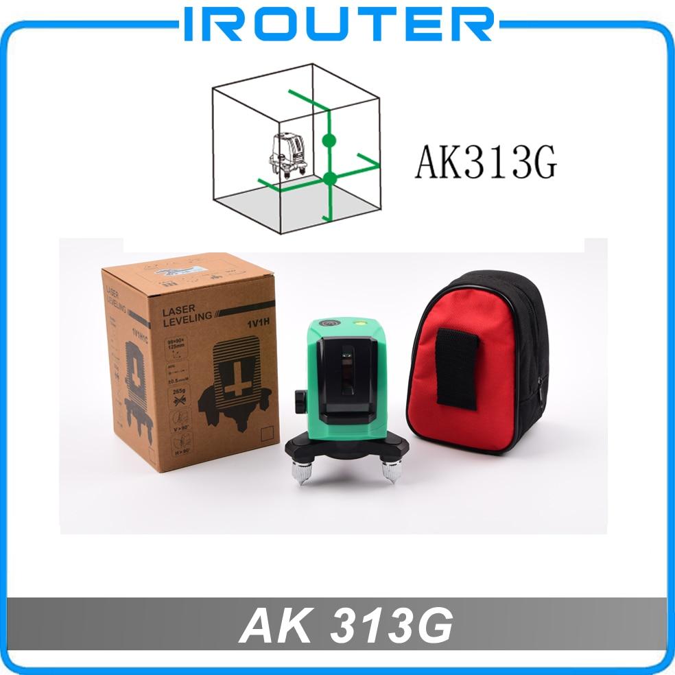 ACULINE ,2017 New model , AK313G green laser level , green ray level , 2 lines laser level spinderella level 2
