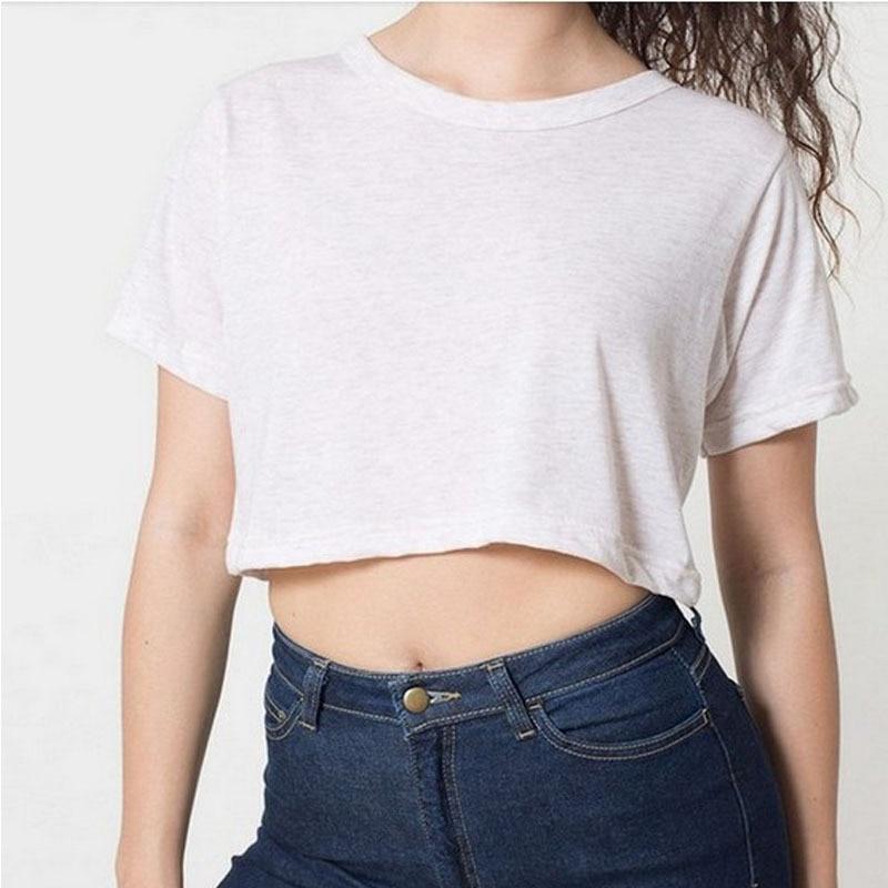 1dfe6cb24b8 Summer Style Solid Crop Top 2015 Harajuku T Shirt Women Hot Sale 6 Color  Sexy Crop Top Cropped Short Hot Plain Women`s T Shirt L-in T-Shirts from  Women's ...