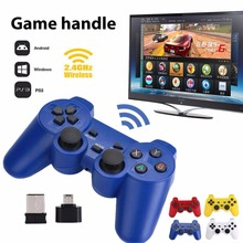 Gasky Scorching 2.4GHz Wi-fi Twin Joystick Management Stick Sport Controller Gamepad Pleasure-con For PS3 Android PC home windows 7 8 10 TV Field