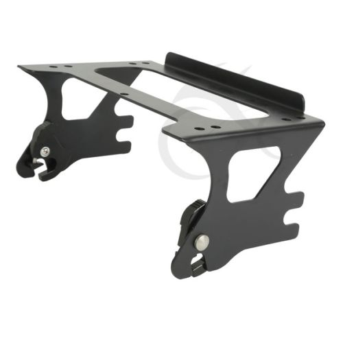 2 up  Detachable Tour Pak Pack Mount Rack For Harley Touring Electra Glide Street 1997-2008 FLHT FLHX FLTR 97-08 saddlebag lid rack top rail w light for harley touring ultra street electra glide 94 13