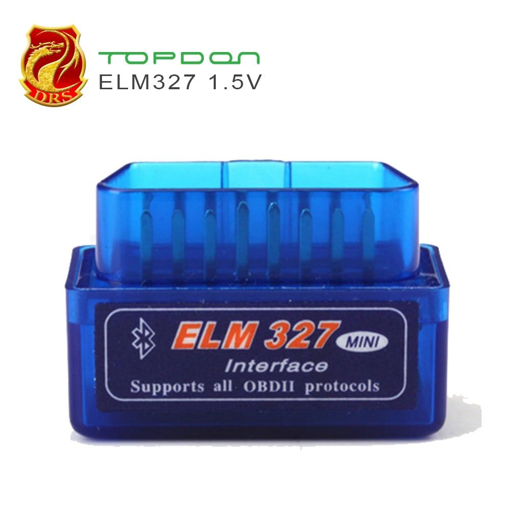 Outil de diagnostic Scanner ELM327 MiNi V1.5 Bluetooth OBD2 ELM 327 V 1.5 OBDII OBD II Lecteur de Code OBD 2 De Voiture de Diagnostic De Numérisation-Outil
