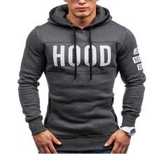 2019 Hoodies Men Hip Hop Mens Brand Letter Hooded Zipper Hoodie Sweatshirt  Slim Fit M-