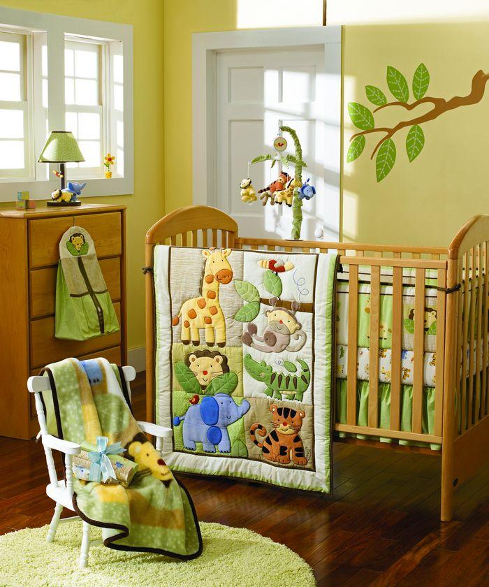 Jungle Animals Boy Baby Crib Bedding