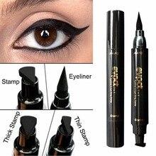 Waterproof Double Head Wing Shape Liquid Eyeliner Easy to Makeup Pencil Long Lasting Not Blooming Tool