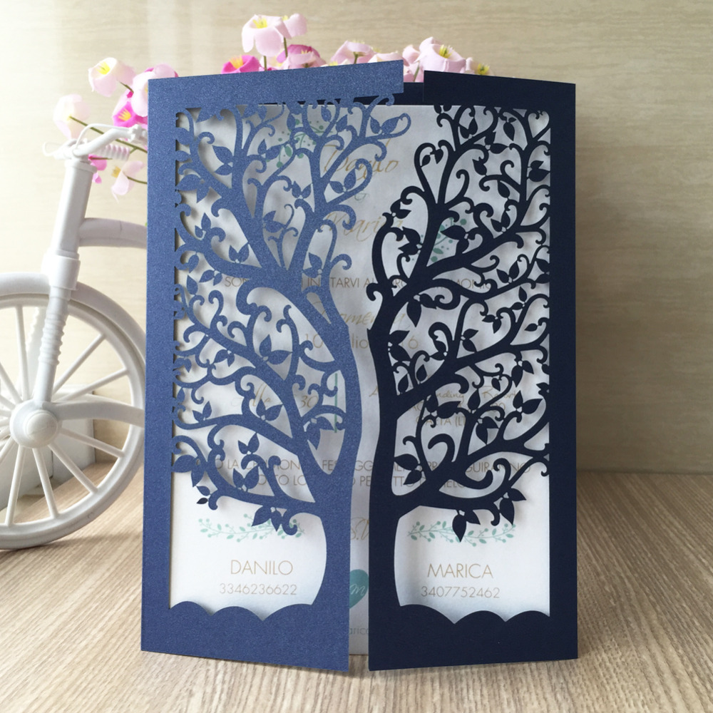 30pcslot 2017 hot sale thank you greeting cards unique wedding 30pcslot 2017 hot sale thank you greeting cards unique wedding invitation pape card with tree design paper craft qj 26 in cards invitations from home m4hsunfo