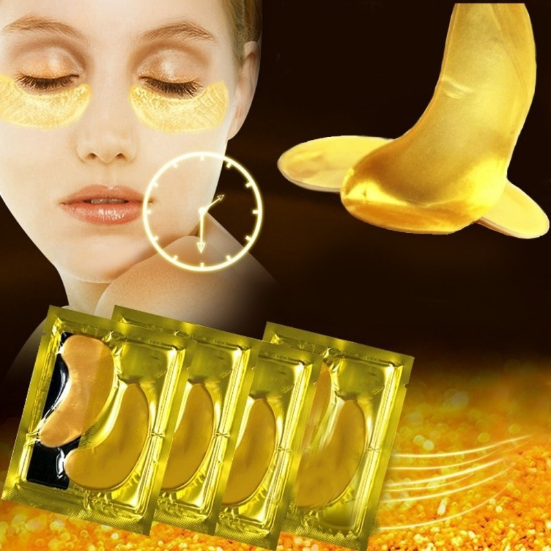 1/ 5Pairs Gold Crystal Collagen Eye Masks Patches Eyemask For Eye Care Dark Circles Remove Anti-Aging Wrinkle Face Skin Care