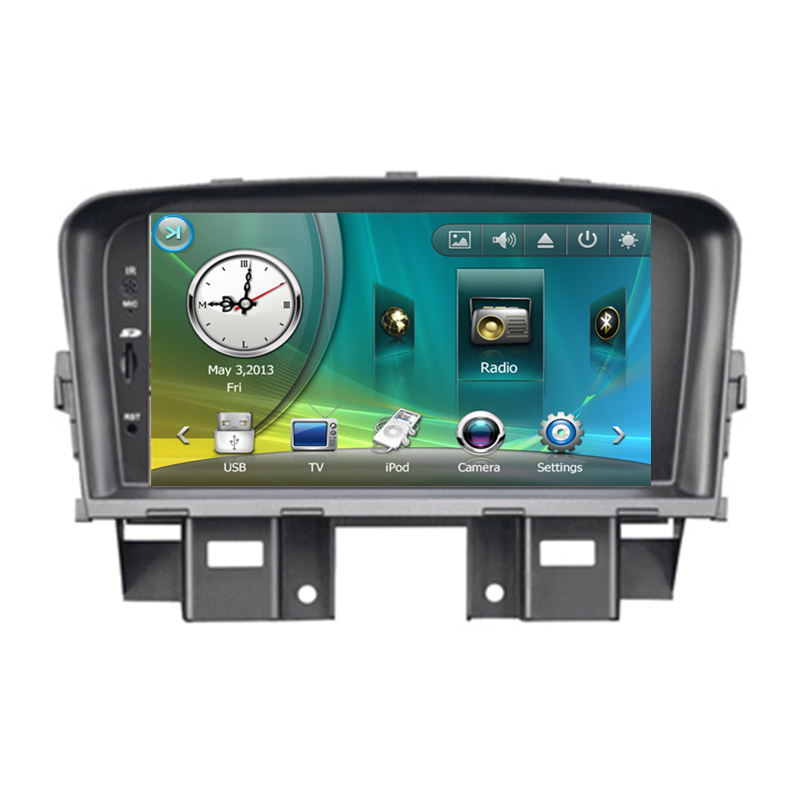7 Car Radio DVD GPS Navigation Central Multimedia for Chevrolet Cruze 2008 2009 2010 2011 RDS Phonebook Bluetooth Handsfree high quality car central station mat sticker for chevrolet cruze black 1pcs free shipping kl12329