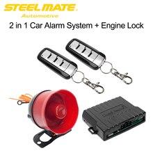 Steelmate SK02 Sistema De Segurança Alarme de Carro Inteligente Bloqueio Do Motor de Controle Remoto