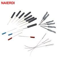 רהיטים כלי וציוד NAIERDI מסגר שבורה מפתח מחלץ הסרת הוקס הסט 12PC עם 10PC ידית כלי נעל פיק חומרת רהיטים (1)