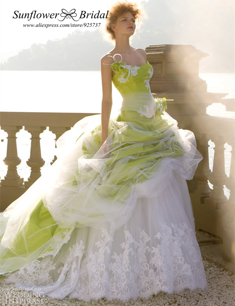 Popular Green Wedding Dresses Buy Cheap Green Wedding