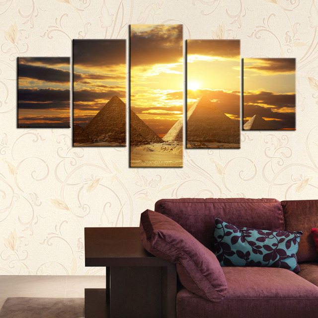 5 panel modern painting home decorative art picture paint on canvas