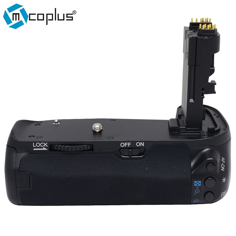 Mcoplus BG-70D Vertical <font><b>Battery</b></font> <font><b>Grip</b></font> Holder for Canon EOS 70D <font><b>80D</b></font> Camera Replace as BG-E14 Meike MK-70D image