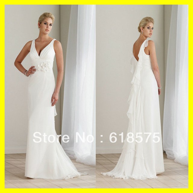 Off White Wedding Dresses Casual Beach Cotton Guest Pink Floor Length Sweep Brush