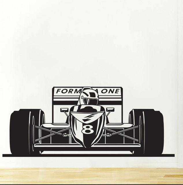 Formule 1 une Bolid sport voiture de course Stickers muraux Art ...
