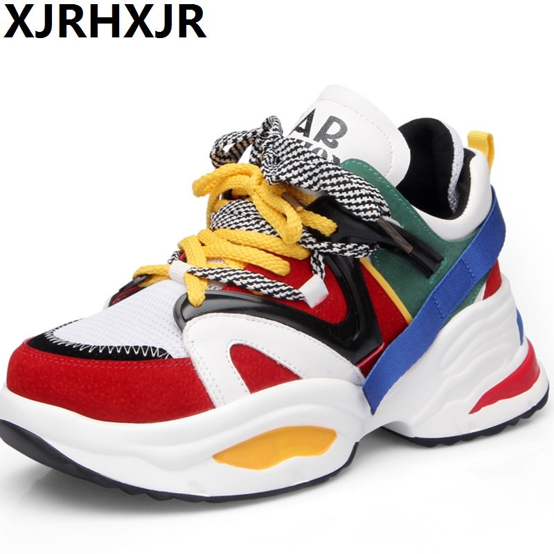 XJRHXJR Brand Women Shoes 2018 Fashion Spring Pu Leather Lace Up Ladies Ulzzang Shoes Woman Sneakers Tenis Feminino Casual Shoes casual shoes woman sneakers 2018 new spring fashion with breathable mesh women shoes tenis feminino light lace up shoes ladies