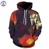 Mr 1991INC Men Women Hoodies With Hat Hoody Print Color Blocks Autumn Winter Thin 3d Sweatshirts