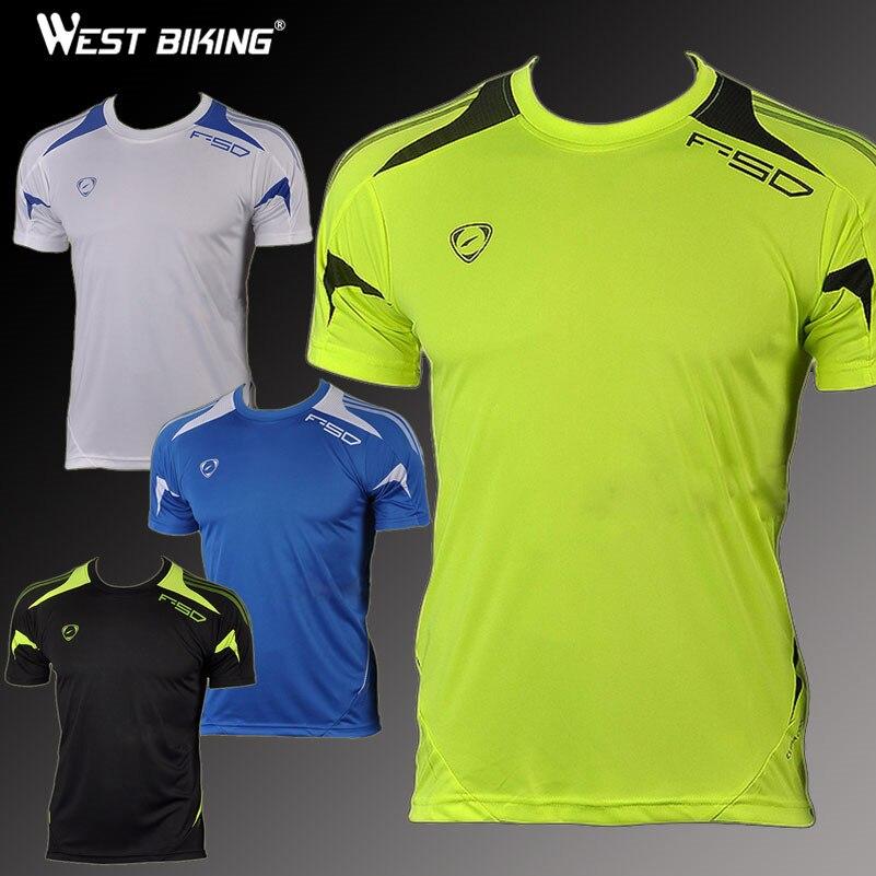 West Biking Brand Mens Bike Shirts Slim Fit Workout Shirts