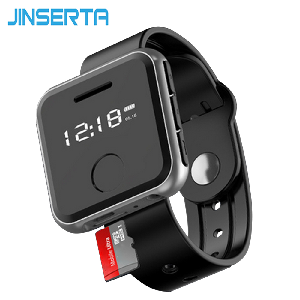 JINSERTA Mini MP3 Player Upgraded Version 8G 16G 32G HIFI Sport Music Players with 0.91 Screen FM Radio Recording Function