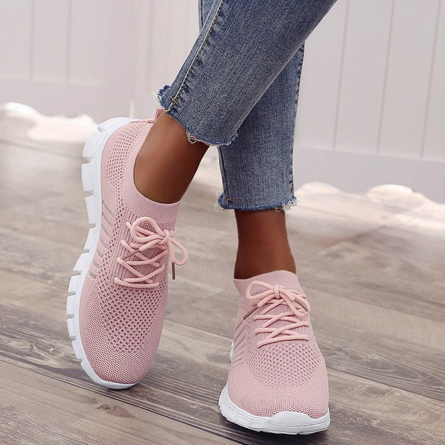 Women's breathable sneakers fashion Flying Weaving Socks Shoes Sneakers Casual Shoes Student Running Shoes sports shoes #39 4