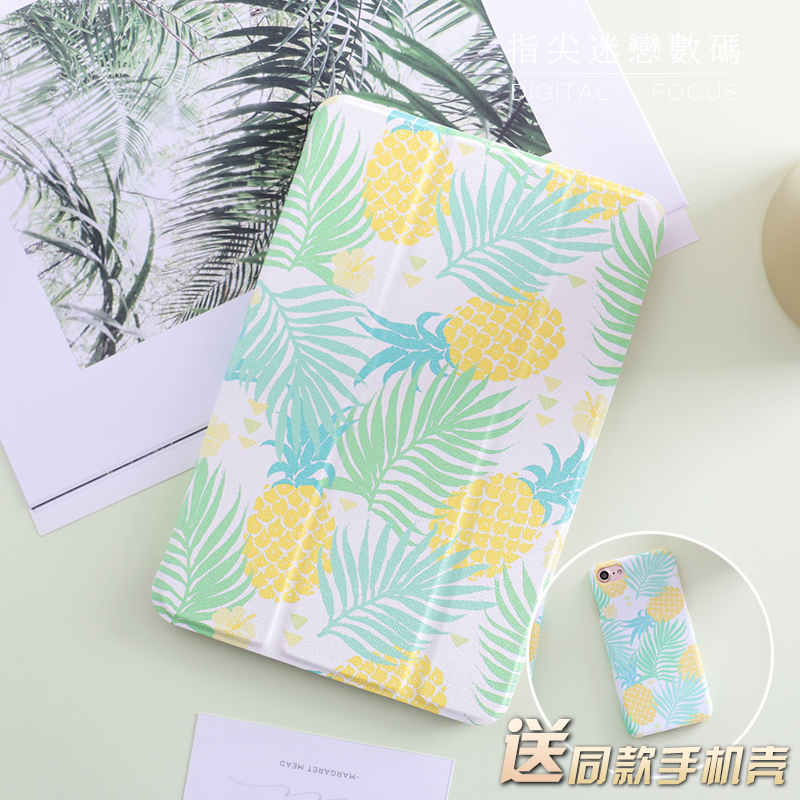 Pineapple Tree Mini4 Mini2 Flip Cover For iPad Pro 10.5 9.7 2017 Air Air2 Mini 1 2 3 4 Tablet Case Protective Shell 10.5 9.7 for ipad mini4 cover high quality soft tpu rubber back case for ipad mini 4 silicone back cover semi transparent case shell skin