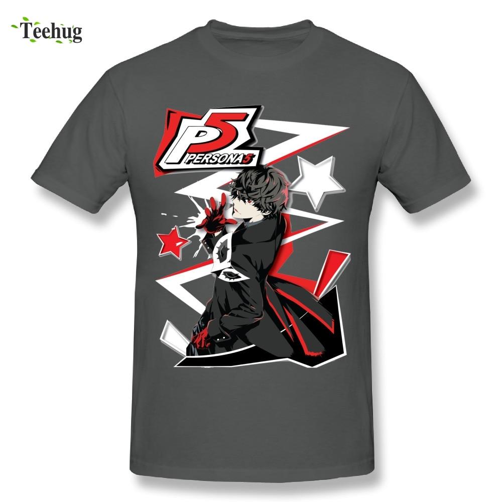 Persona 5 Joker Men/'s Black Tees Shirt Clothing