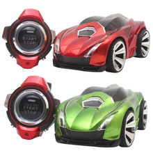 110-220V R-102 Mini RC Car 2.4G 6CH Voice Command Car Smart Watch Remote Control Sports Car Toy for Kids