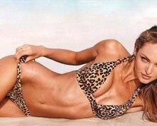 Sexy Swimwear Beach Fringe Split Women Bikini Leopard Print Tankini Two Pieces Swimsuit Swimming wsw0521