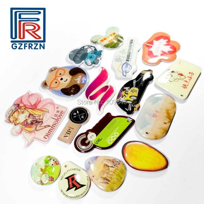1000pcs Custom Printing I.CODE SLIX Chip Epoxy Hang Tag 13.56MHz ISO15693 RFID Card For Access Control Payment Gift