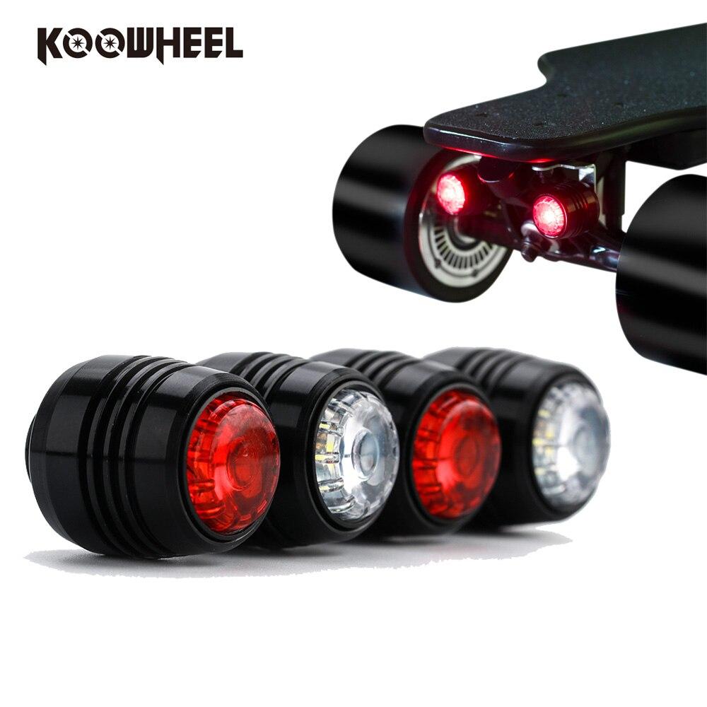 4 pcs/ensemble Koowheel Planche À Roulettes LED Lumière conduite de Nuit Éclairage/Avertissement LED Lumières pour 4 Roues planche à roulettes Longboard