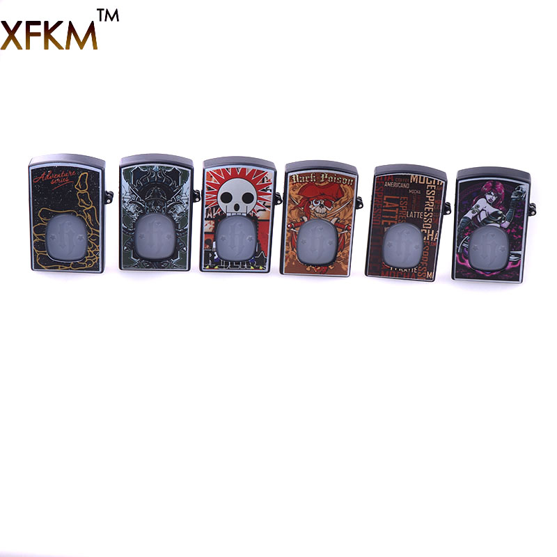 XFKM Protable 2018 Little Beard Boy Lighter Style Plastic 20ml 30ml Box E Liquid Needle Bottle ABS & PE Empty Oil Dropper Bottle