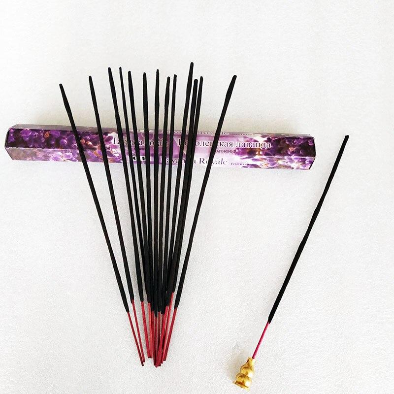 1 Box White Sage Incense Sticks Indian Stick Incenses Meditation Lavender Scent For Home Insence Can Choose Copper Burner