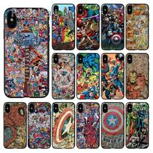 Ruicaica Marvel Avengers Heros Comics Soft Silicone TPU Phone Cover for iPhone X XS MAX 6 6S 7 7plus 8 8Plus 5 5S XR(China)