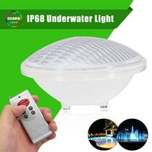 Smuxi 24W 12V PAR56 IP68 Waterproof Underwater Light LED Swimming Pool Light PC Cover With 351 LED Bulbs Outdoor Pond Spotlight(China)