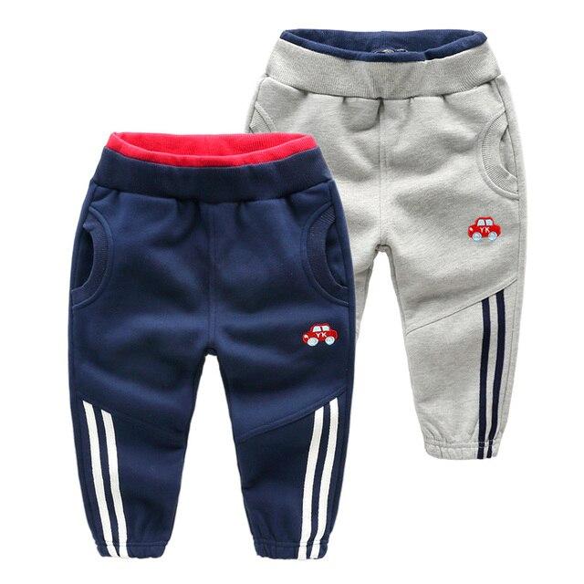 Primavera otoño algodón largo Pantalones bebé Niños deporte Pantalones  cintura elástica gris azul Pantalones casual 2 32ee93351a0