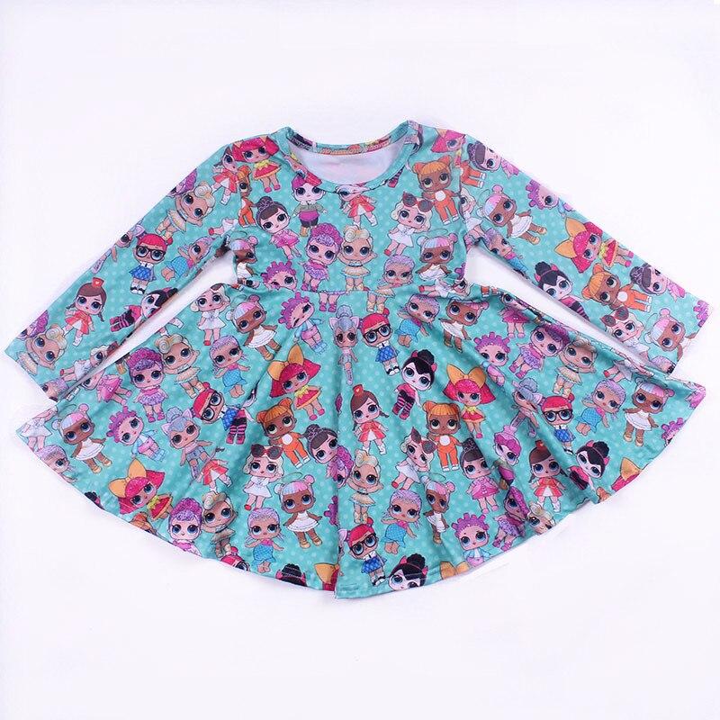 Los niños de moda diseño vestido moderno vestidos de niñas boutique vestido adolescente bebé niñas vestido de seda de la leche 2019