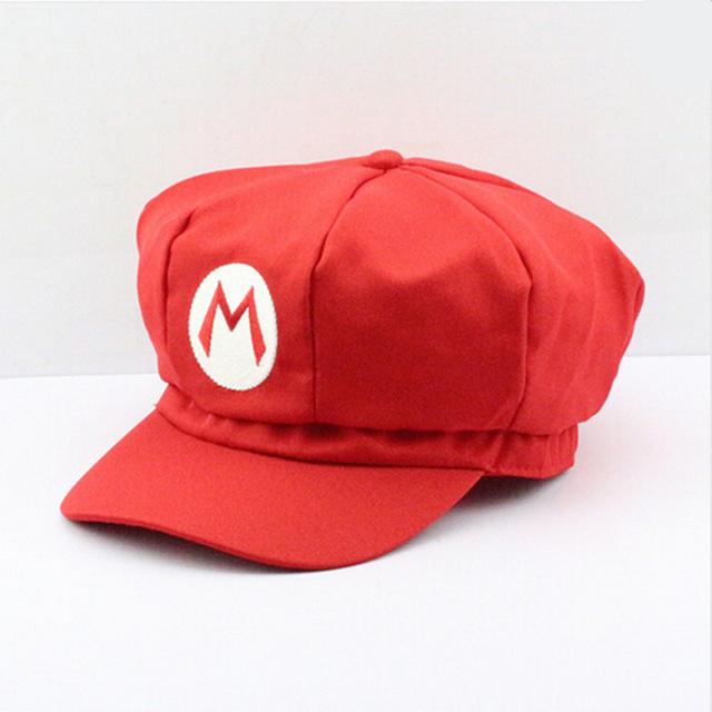 Super Mario Stuffed Plush Cotton Caps hat red