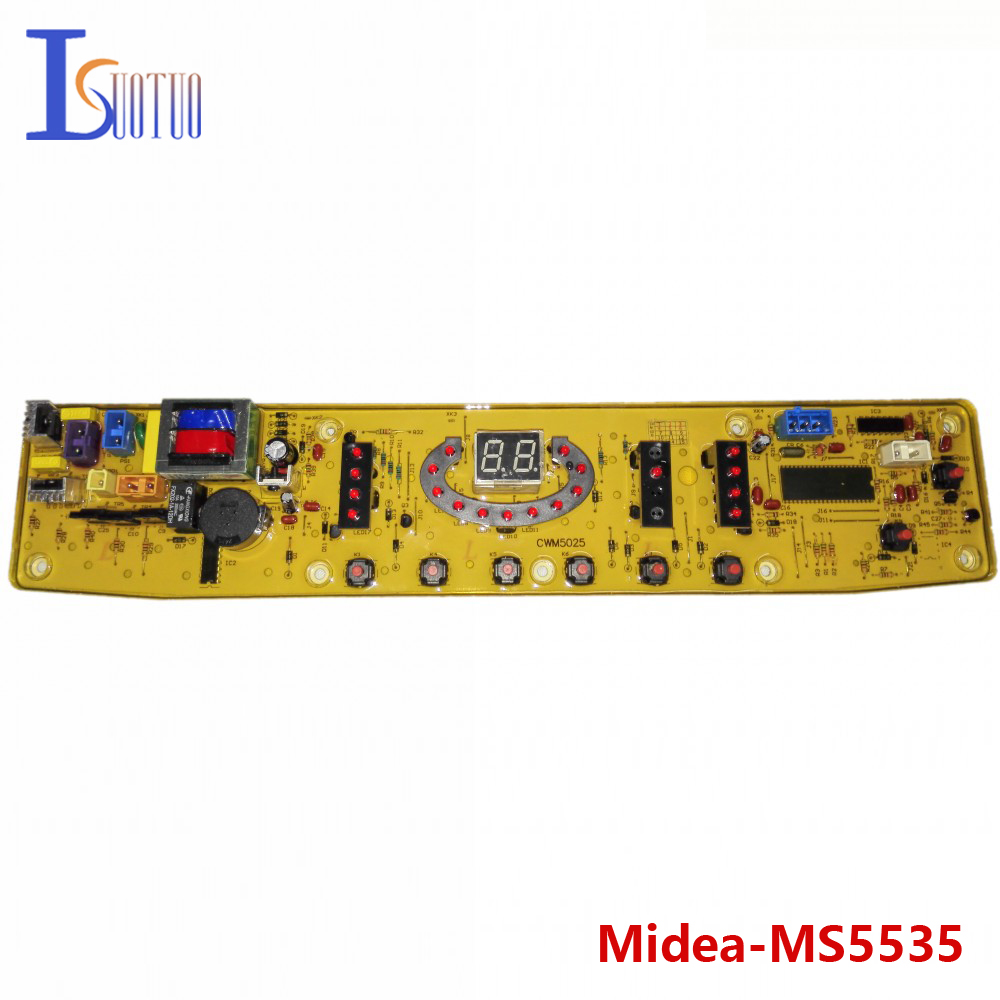 Midea washing machine brand new computer board MS5535 MB6008 MB6545 MB6025 MB6508 5025 wire universal board computer board six lines 0040400256 0040400257 used disassemble