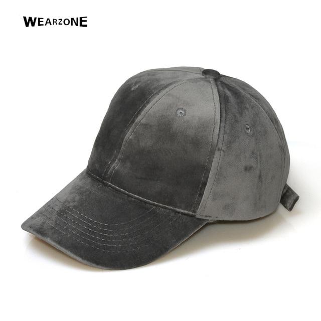 70415e61b75148 Wearzone 2017 Velvet Baseball Cap Women Plain Black Snapback Men Fashion  Pure Caps Flat Hats Bone Gorras Casquette