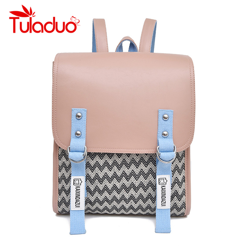 купить Tuladuo Brand Women Leather Backpack Female Small School Bags for Teenage Girls Travel Rucksack Sac A Dos 2018 Bagpack Mochila по цене 1581.62 рублей