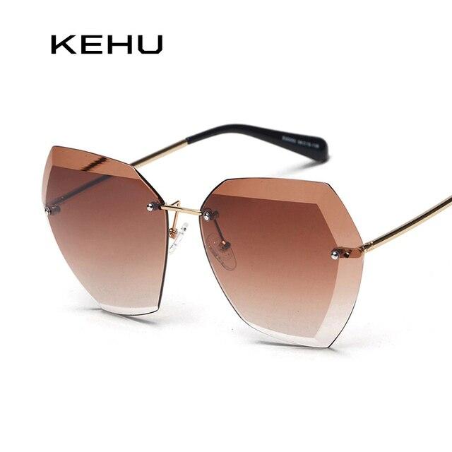 Sonnenbrille Frauen Square Frameless Sonnenbrille Grau Lens , Grün