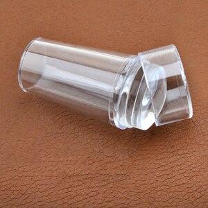 Image 2 - Móng tay Tem Đĩa Nhà Thiết Kế Ốp Móng Tay Nghệ Thuật Stamper Cạp có Nắp Trong Suốt 2.8cm Móng Tem Dập Làm Móng Tay