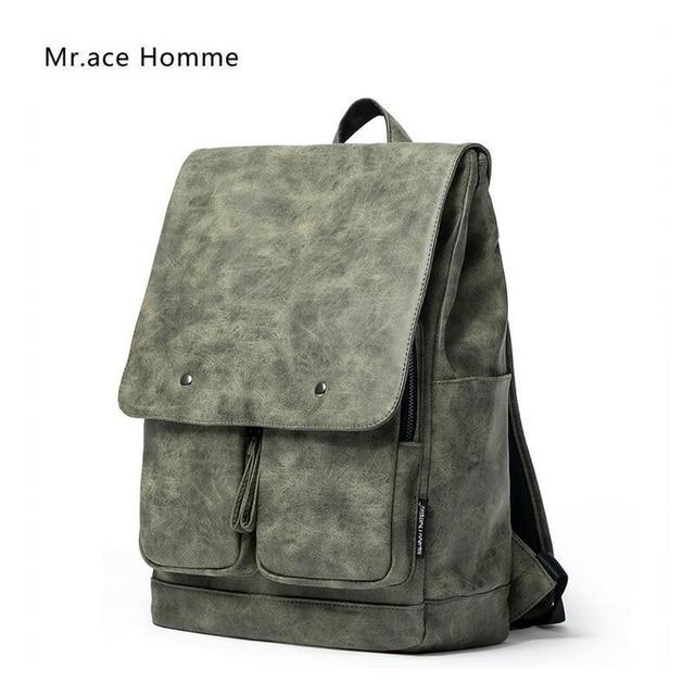 Women Luxury Backpack Designer Fashion Travel Backpacks Men Vintage PU  Leather Bag for Teenage Girls School Bags mochila escolar 11cbe3075eab6