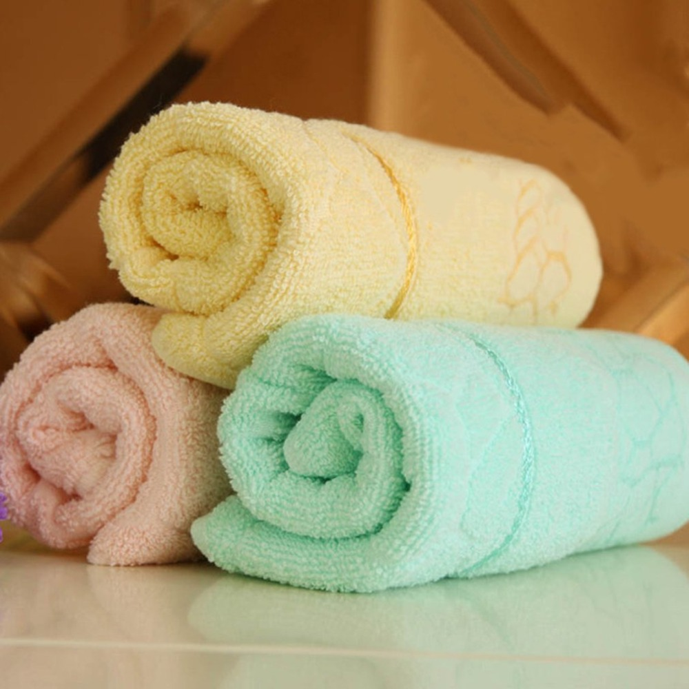 Solid Color Full Cotton Face Cleaning Towel Home el Sports Use Absorbent Antibacterial Bathroom Non-twist Towels