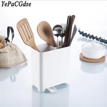 Creative kitchen multi-function chopsticks cage storage rack plastic drain knife supplies