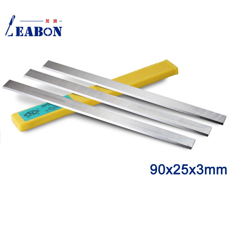 LEABON HSS W6% Wood Planer Blades 90x25x3mm Woodworking Power Tools Accessories  (A01006004)