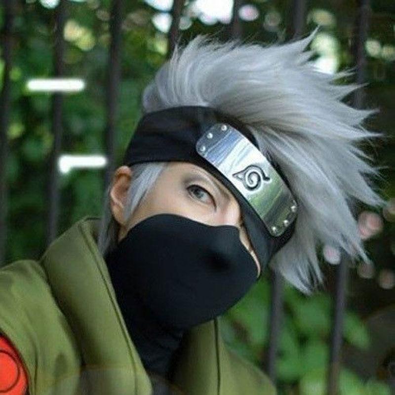 35cm Short Silver Grey Cosplay Wig For Cool Men Fashionable Japan Anime Figure Gray Naruto Hatake Kakashi Male On Aliexpress