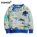 2-7Y Children Hoodies boys Red Christmas Reindeer terry Hoodie Boy Baby Thick Sweatshirts Kid's Cartoon Sweater dinosaur